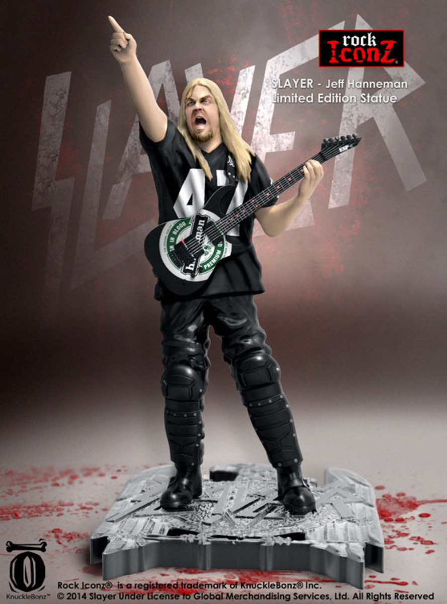 figurka Slayer - Rock Icon Statue - Jeff Hanneman - KBSLJH100