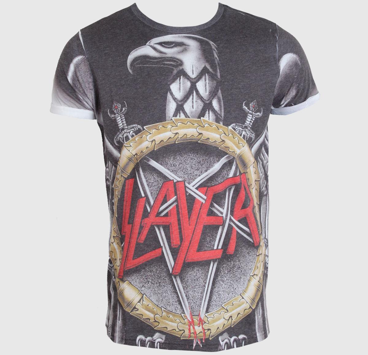 tričko pánské Slayer - Silver Eagle - ROCK OFF - SLAYPSB01