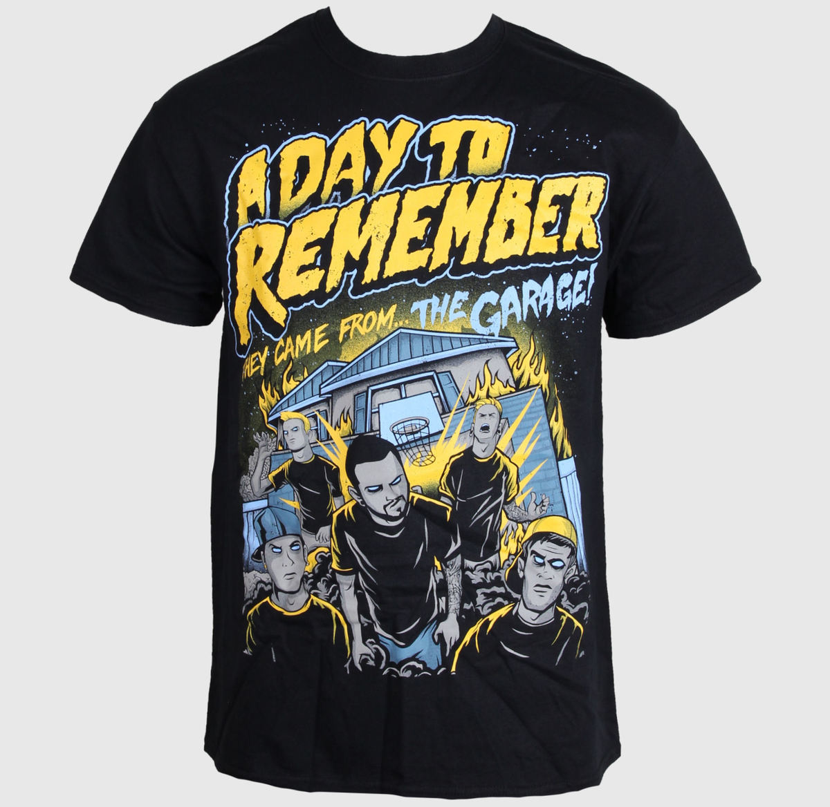 tričko pánské A Day To Remember - They Came From The Garage - Black - LIVE NATION - PE11939
