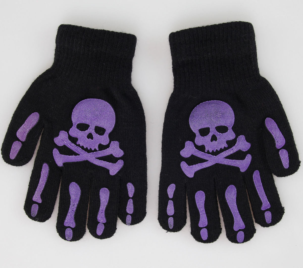 rukavice Skull - Black/Purple - W21-103