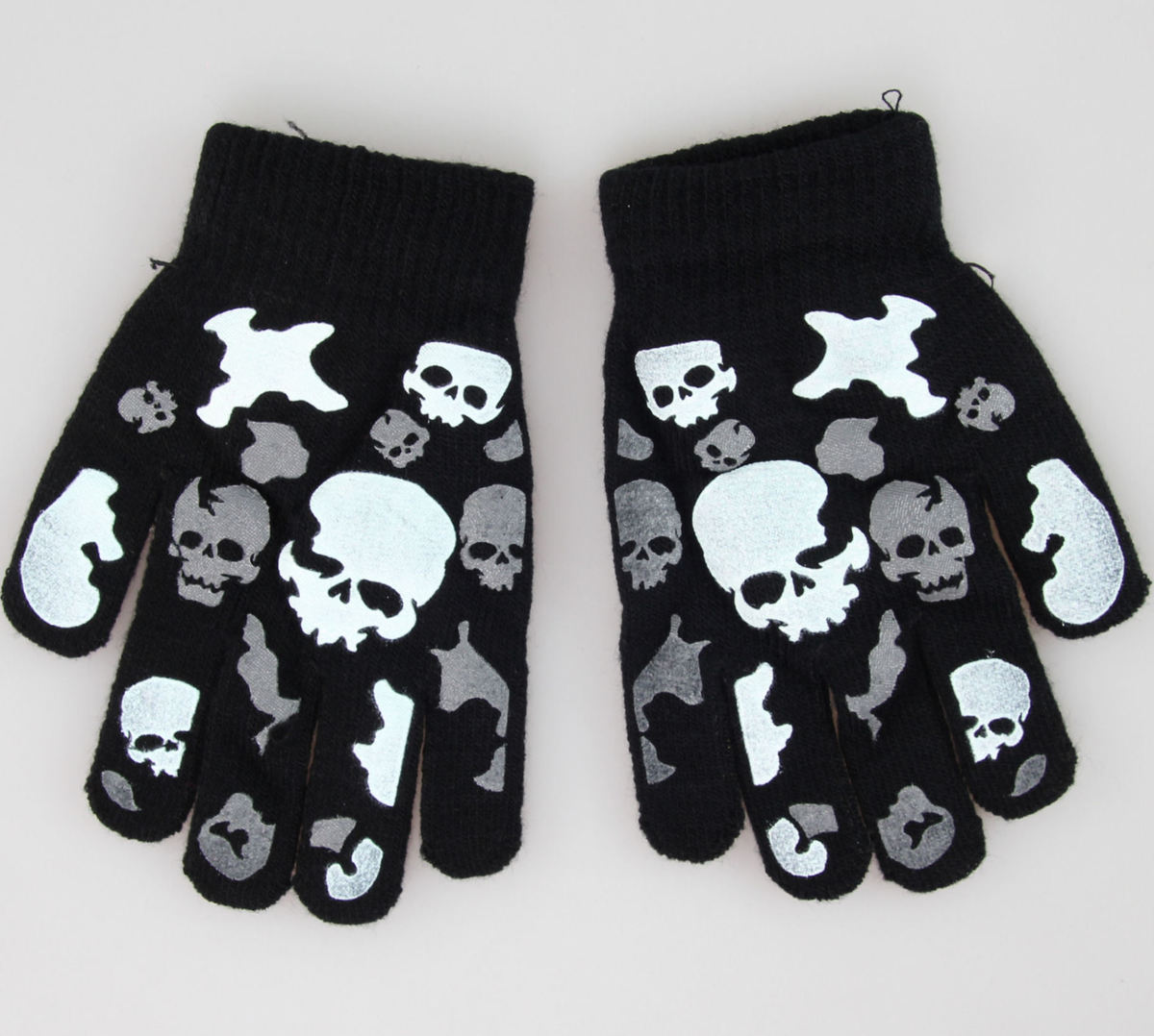 rukavice Skull - Black/White - 1021-101