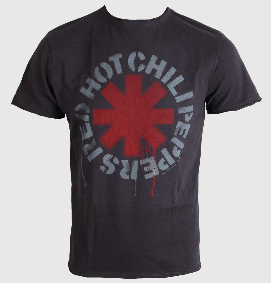 tričko pánské Red Hot Chili Peppers - Logo - Charcoal - AMPLIFIED - ZAV210RHC