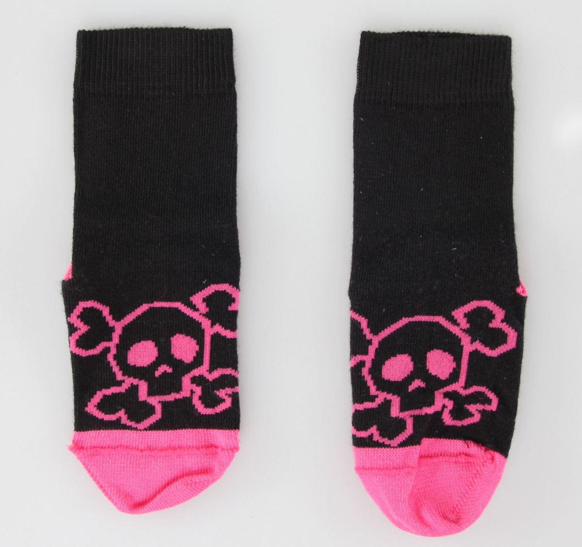 ponožky dětské LEATHER HEAVEN - Pink Skull - SU23