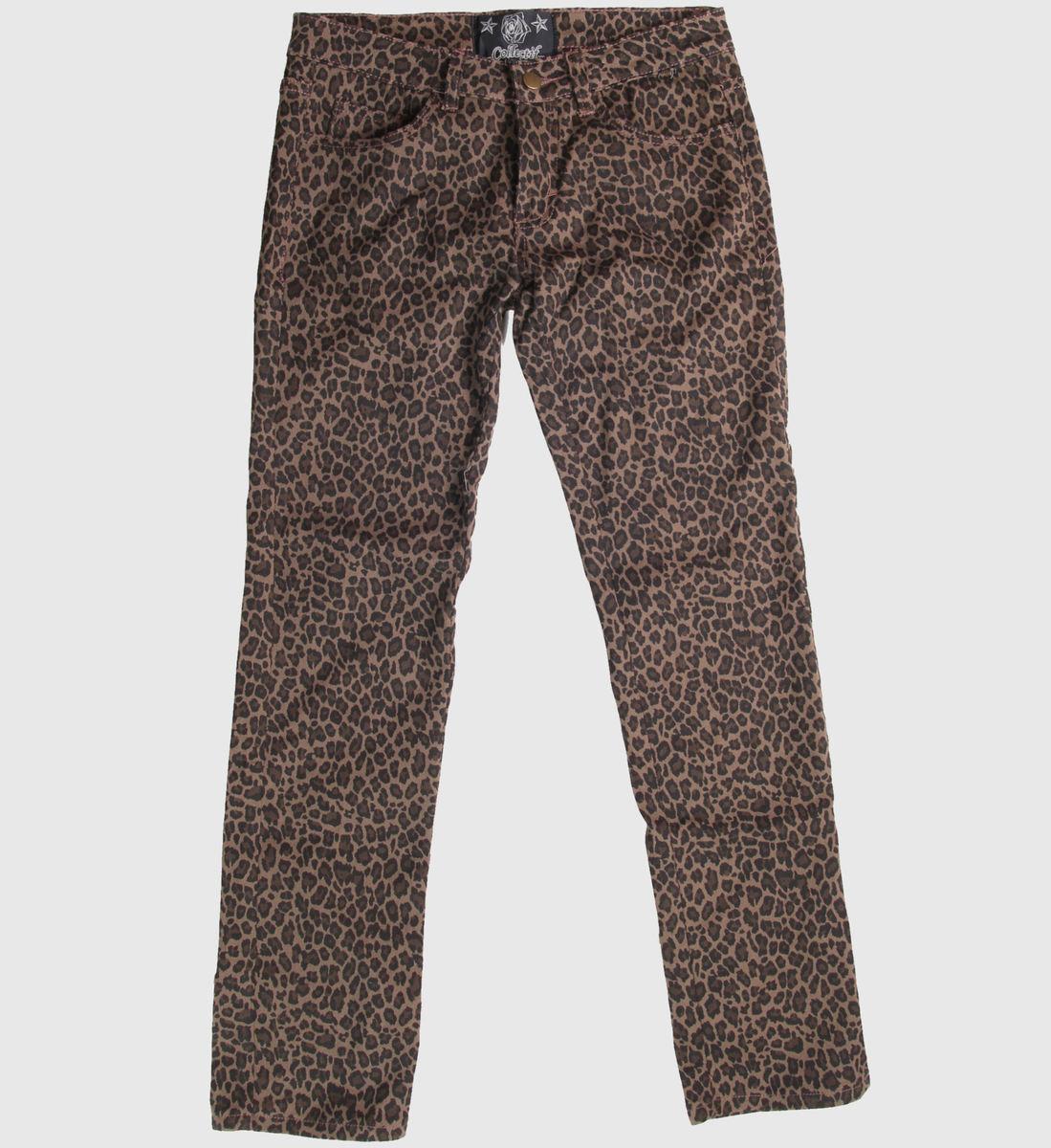 kalhoty dámské COLLECTIF - Leopard - CLO1