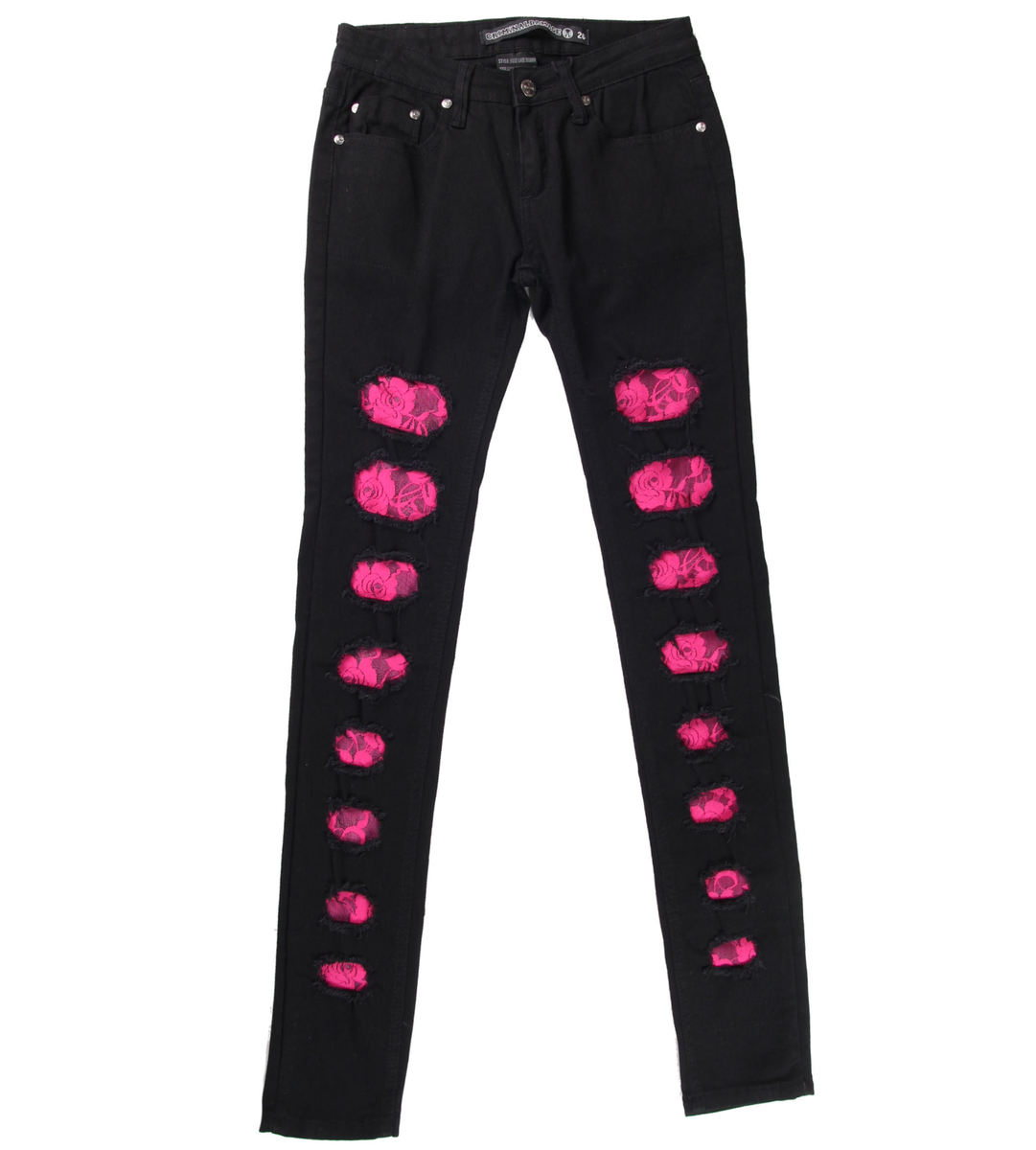 kalhoty dámské CRIMINAL DAMAGE - Black - CRD67