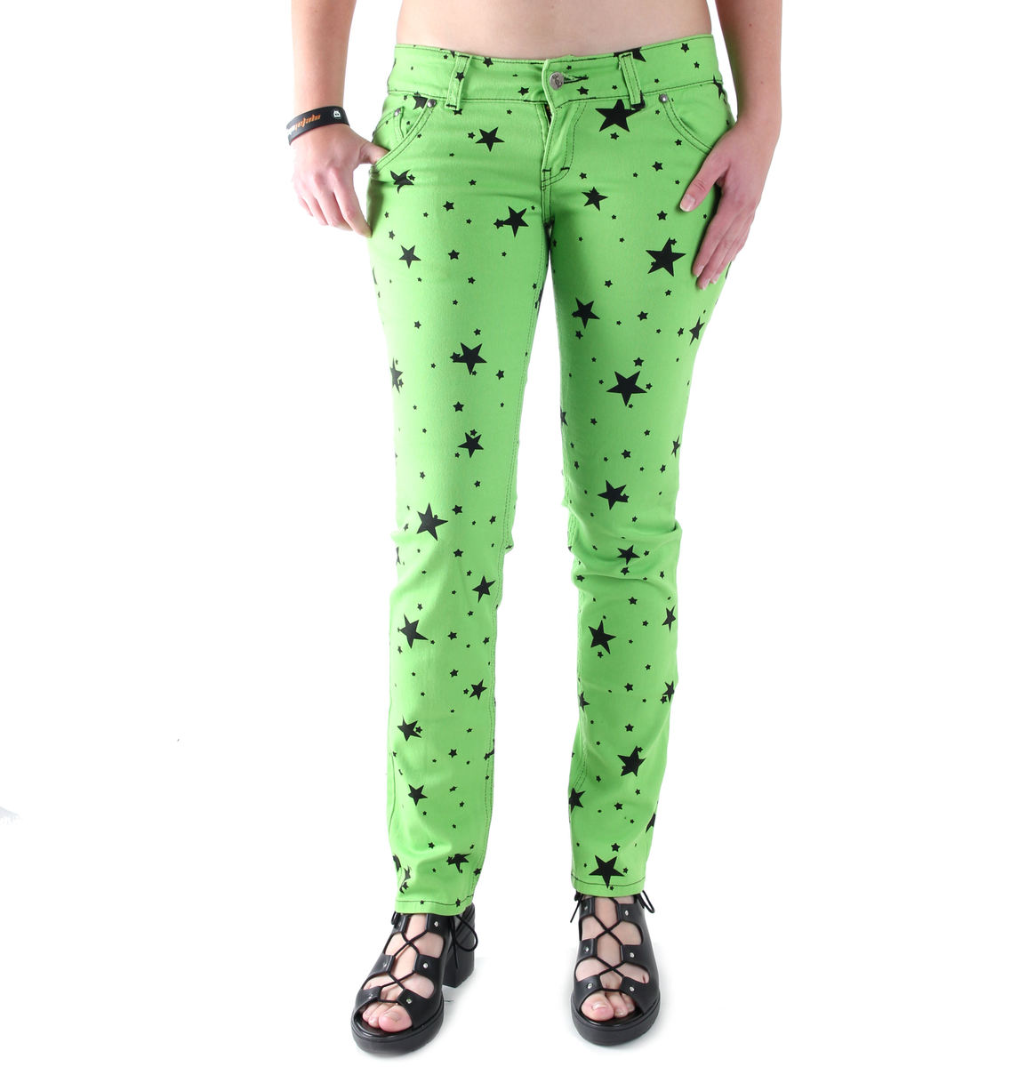 kalhoty dámské 3RDAND56th - Lime - JM1097
