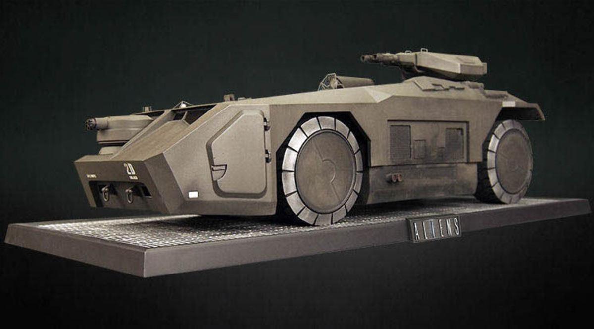 dekorace (model tanku) Alien