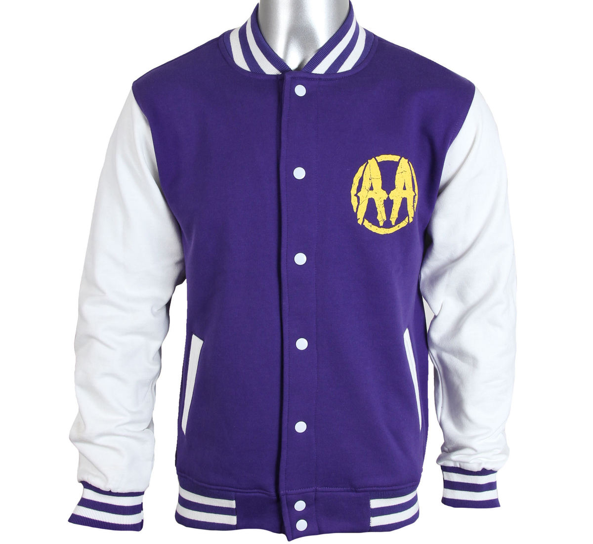 mikina pánská Asking Alexandria - Skull Shield - Purple - PLASTIC HEAD - PH8143