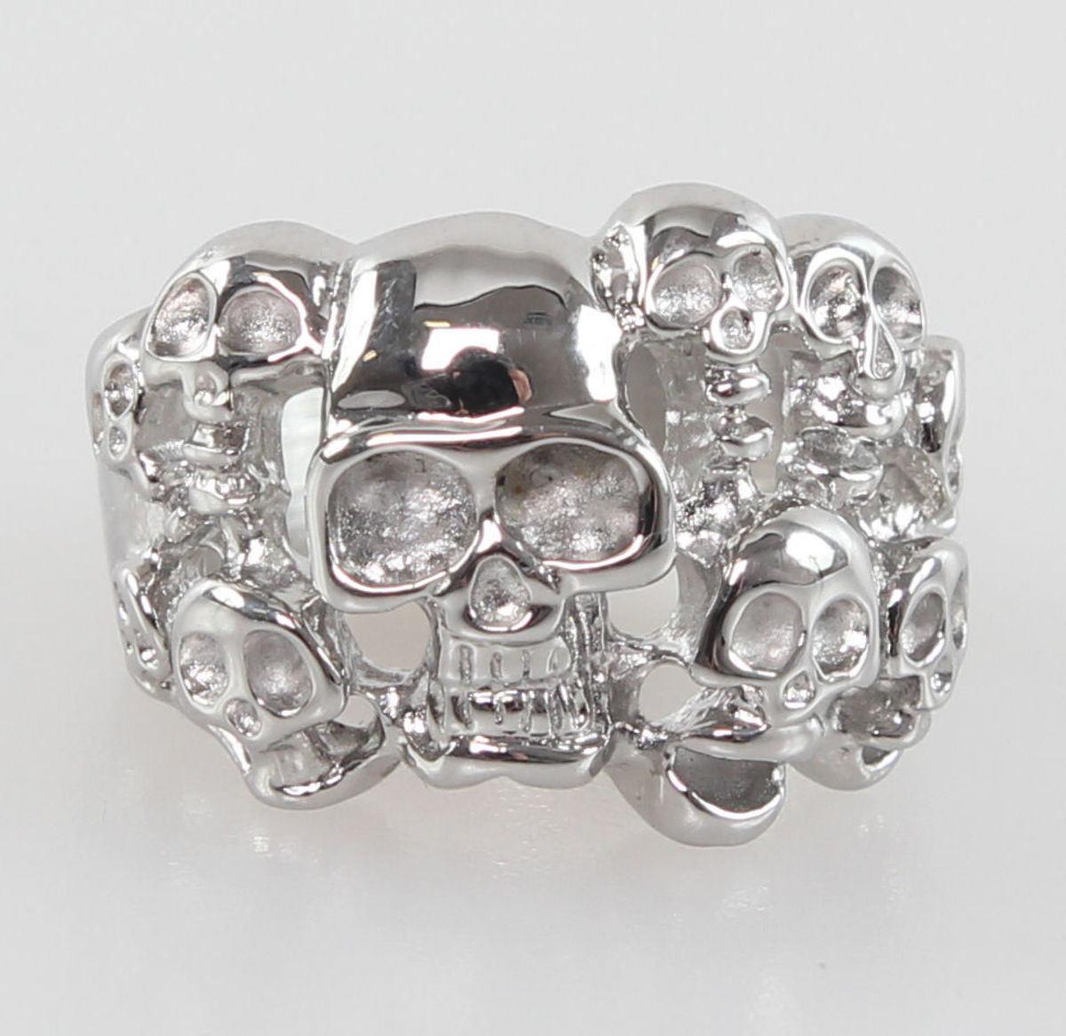 prsten Skulls - NS035 Z