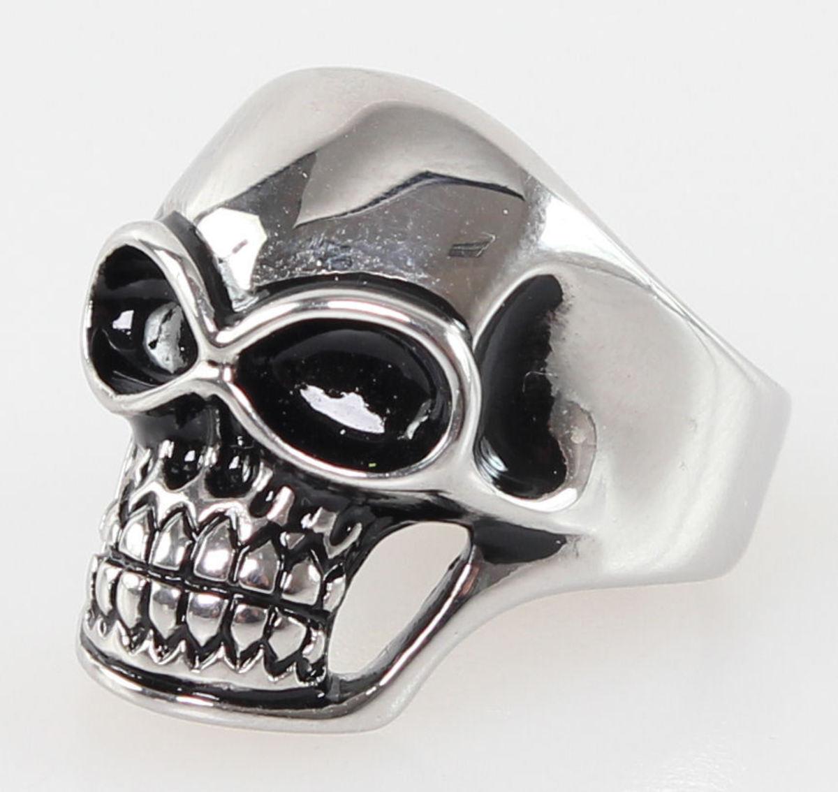 prsten Skull - R021 Y