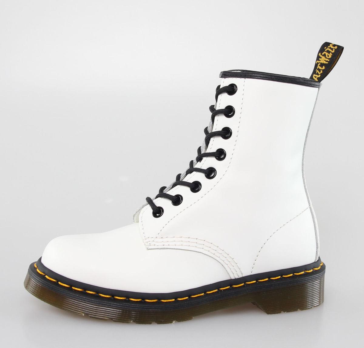 boty DR. MARTENS - 8 dírkové - 1460 - WHITE SMOOTH