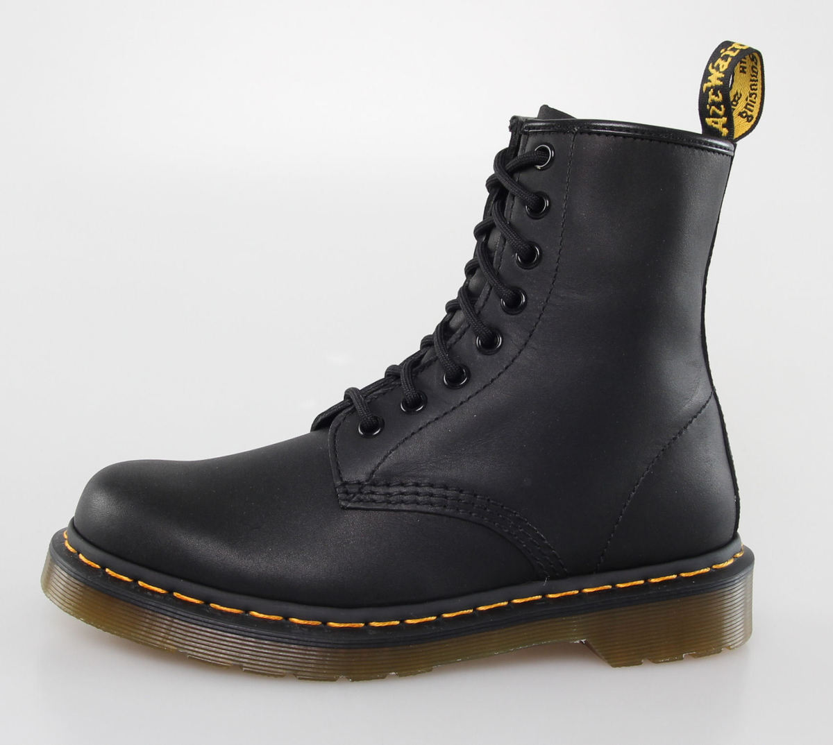 boty DR. MARTENS - 8 dírkové - 1460 - BLACK GREASY