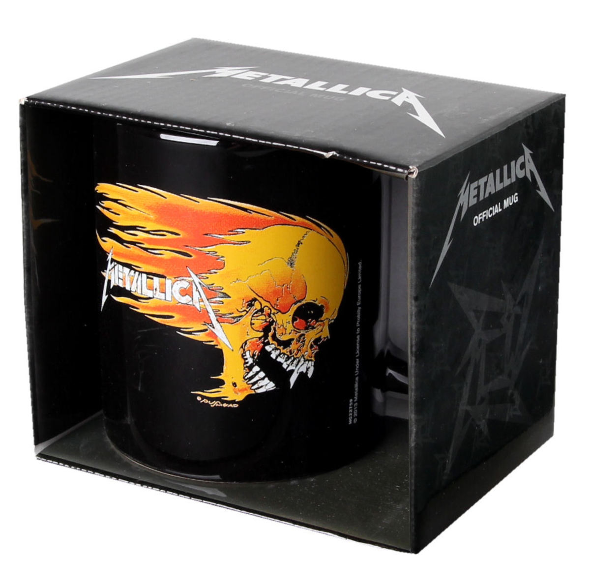 hrnek Metallica - Flaming Skull - Black - PYRAMID POSTERS - MG22759