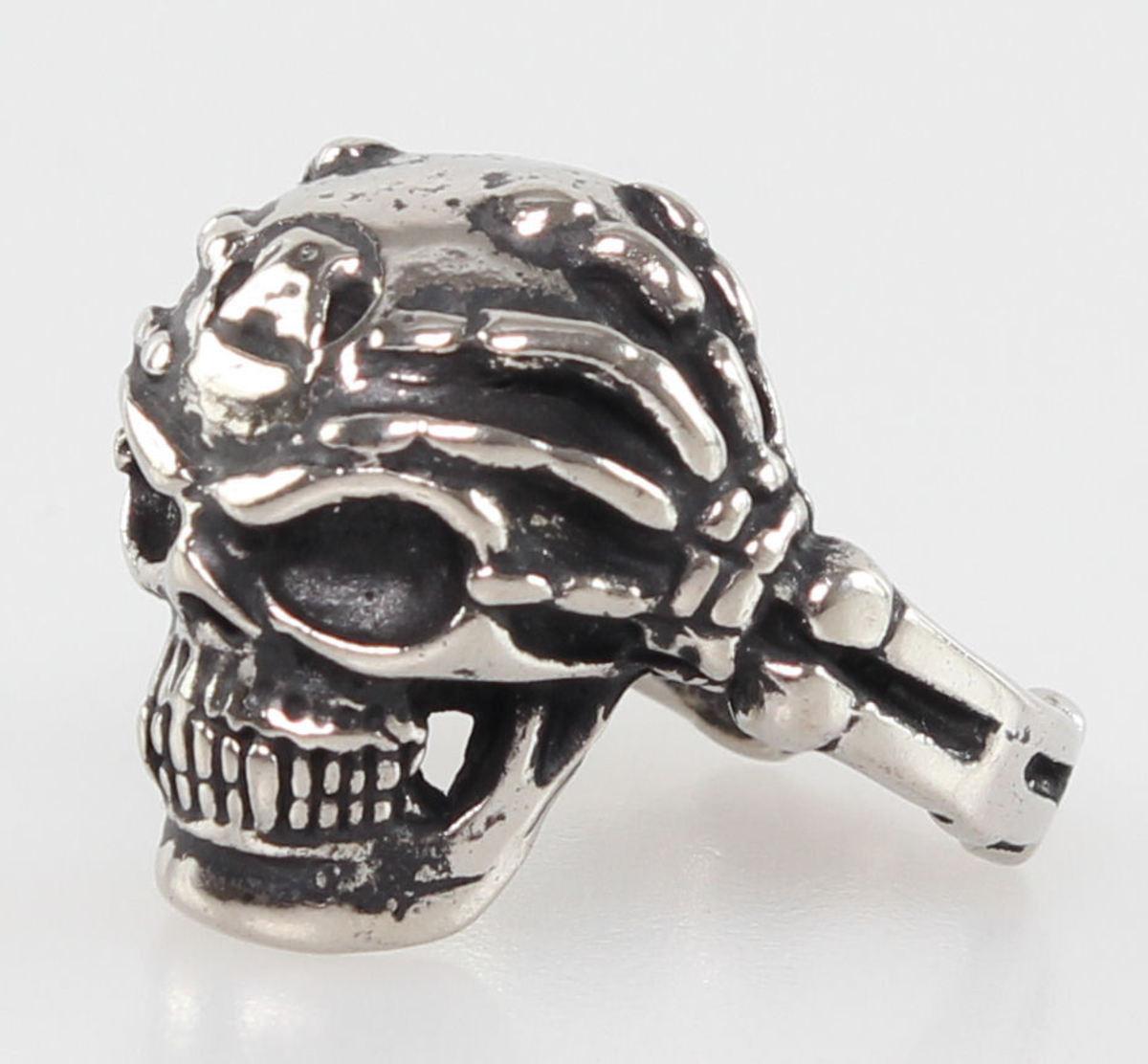 prsten SKULL - PSY120 W