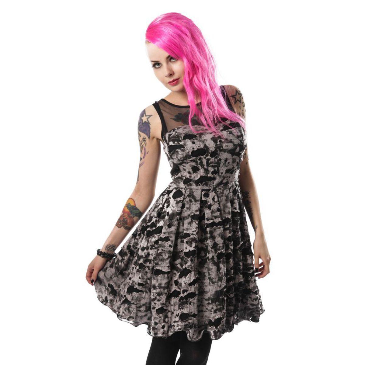 šaty dámské POIZEN INDUSTRIES - Kalista - Black L