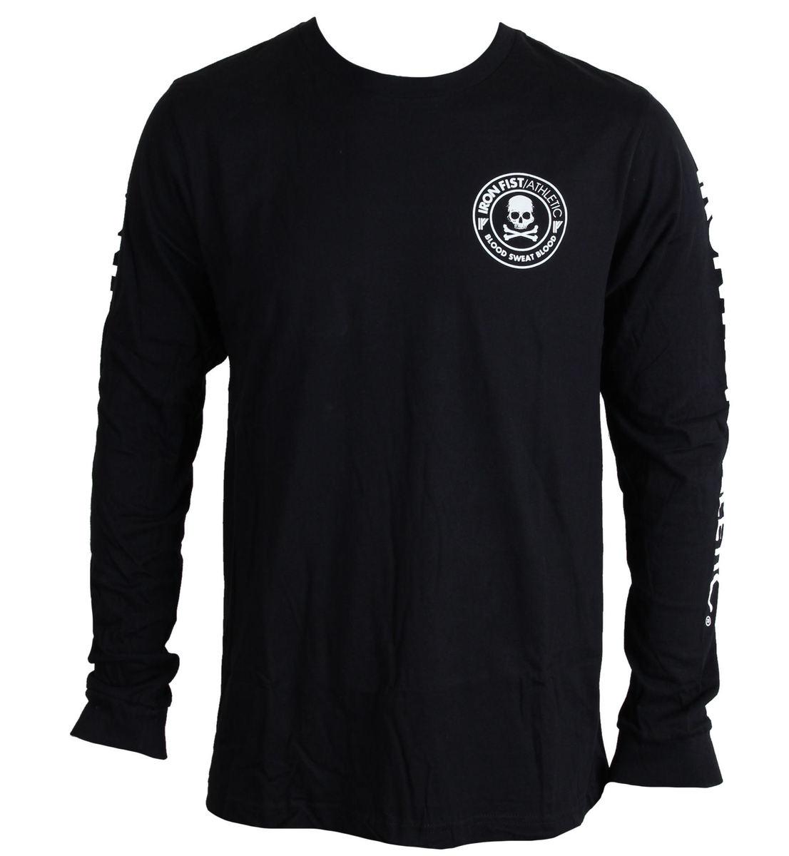 tričko pánské s dlouhým rukávem IRON FIST - Crossbones - Black - IF103160