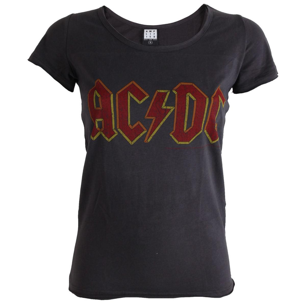 tričko dámské AC/DC -Logo - Charcoal - AMPLIFIED - ZAV601ACL