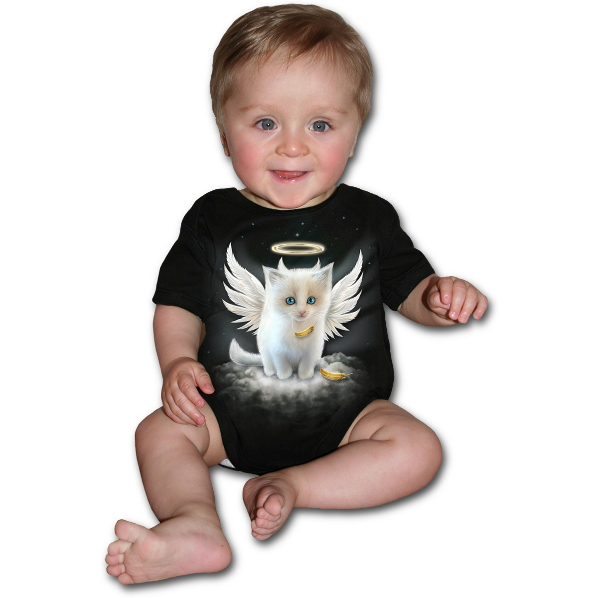 body dětské SPIRAL- Kitty Angel - Black - F024K002