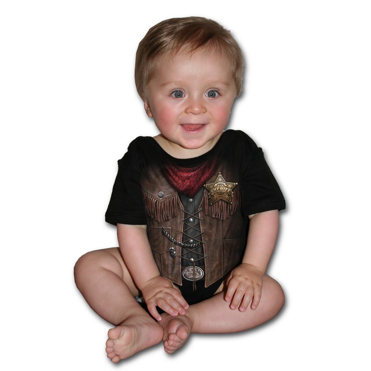 body dětské SPIRAL- Baby Sheriff - Black - F026K002