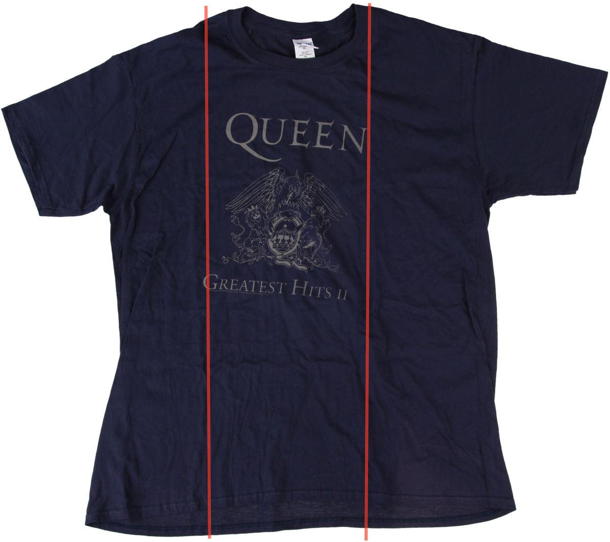 tričko pánské Queen - Greatest Hits II - Navy - BRAVADO EU - POŠKOZENÉ - N144