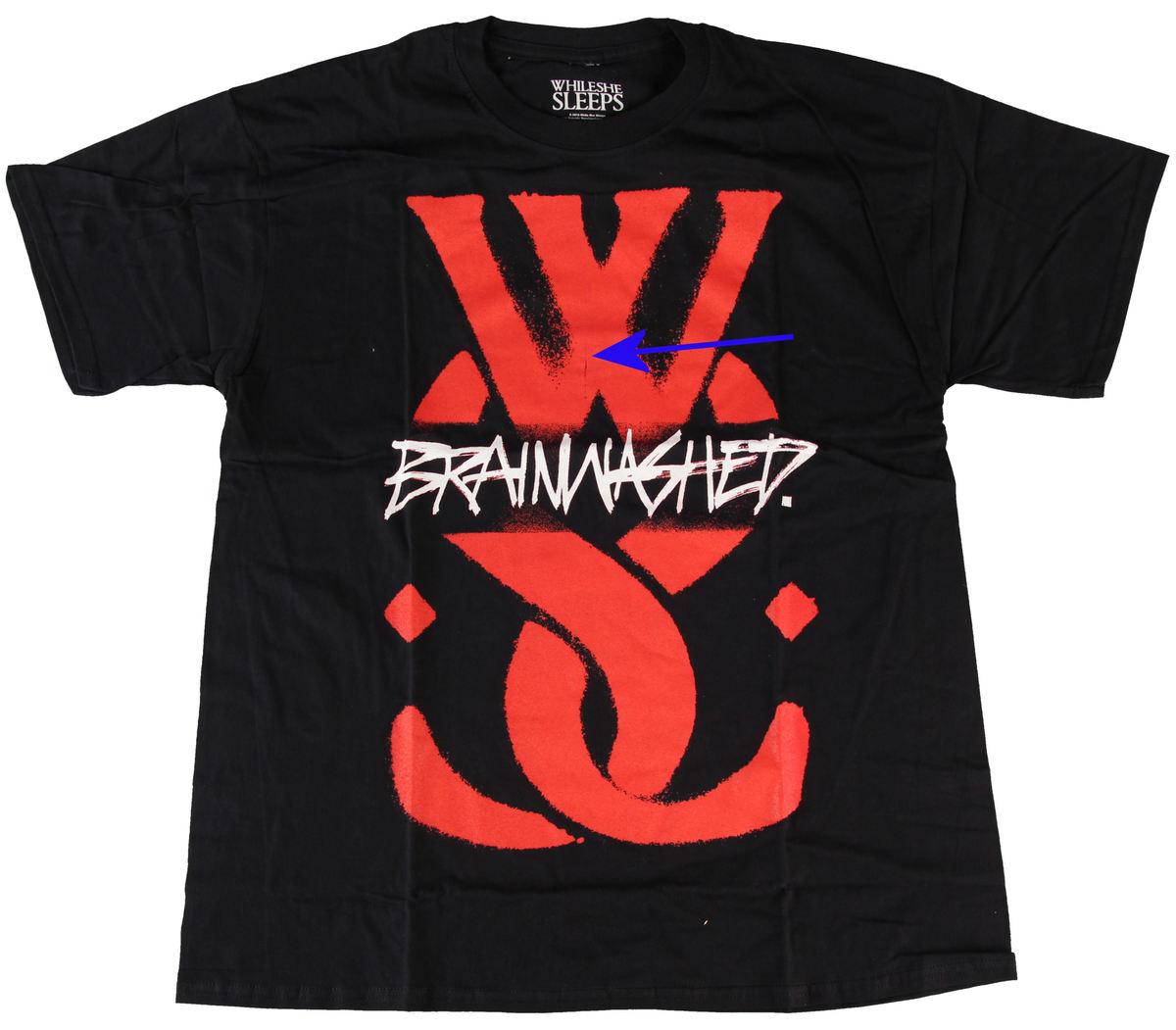 tričko pánské While She Sleeps - Logo - ROCK OFF - POŠKOZENÉ - N171