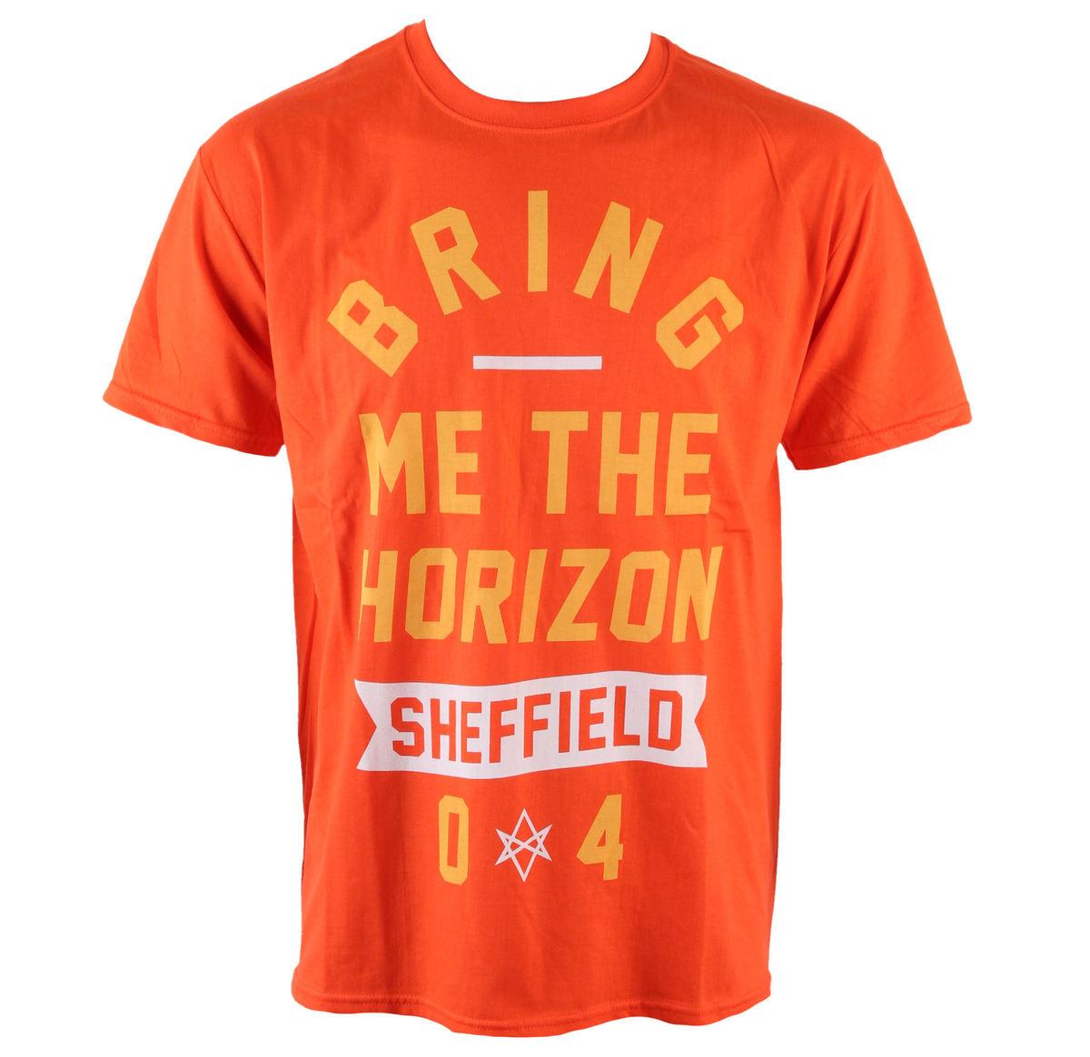 tričko pánské Bring Me The Horizon - Big Text - Orange - ROCK OFF - BMTHTS26MO