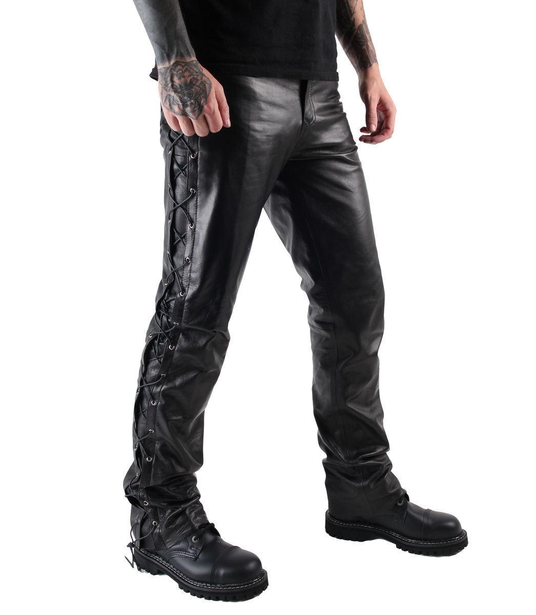 kalhoty pánské kožené OSX - Out-Law - Black - 305