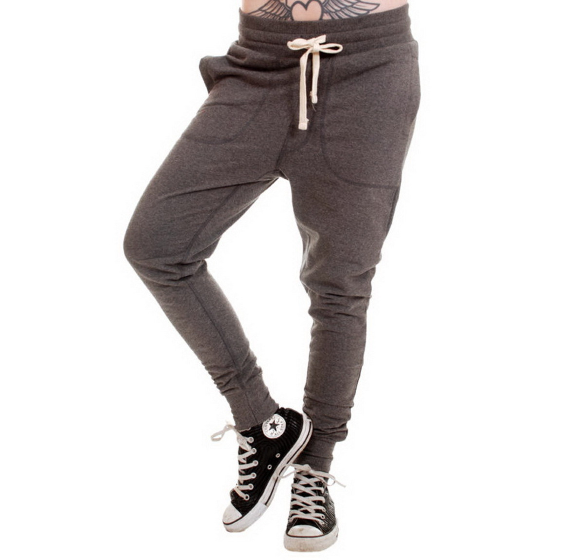 kalhoty unisex (tepláky) 3RDAND56th - Carrot Fit Jogger - Anthrax - JM1008