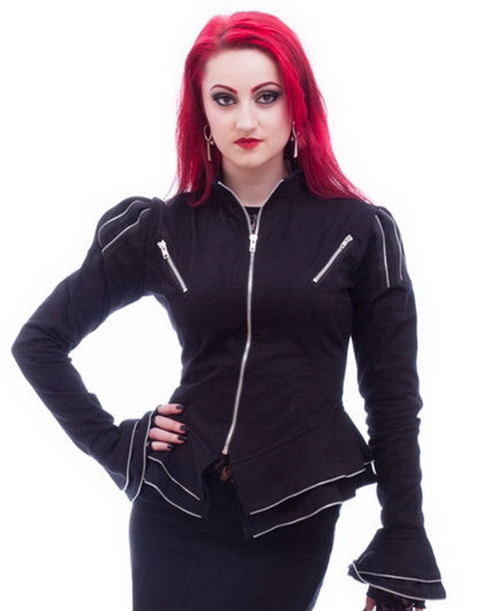 kabátek dámský NECESSARY EVIL - Zaria - Black - N1172