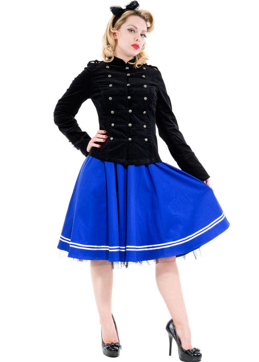 kabátek dámský (sako) jarně/podzimní HEARTS AND ROSES - Balmain Military Velvet - 1019