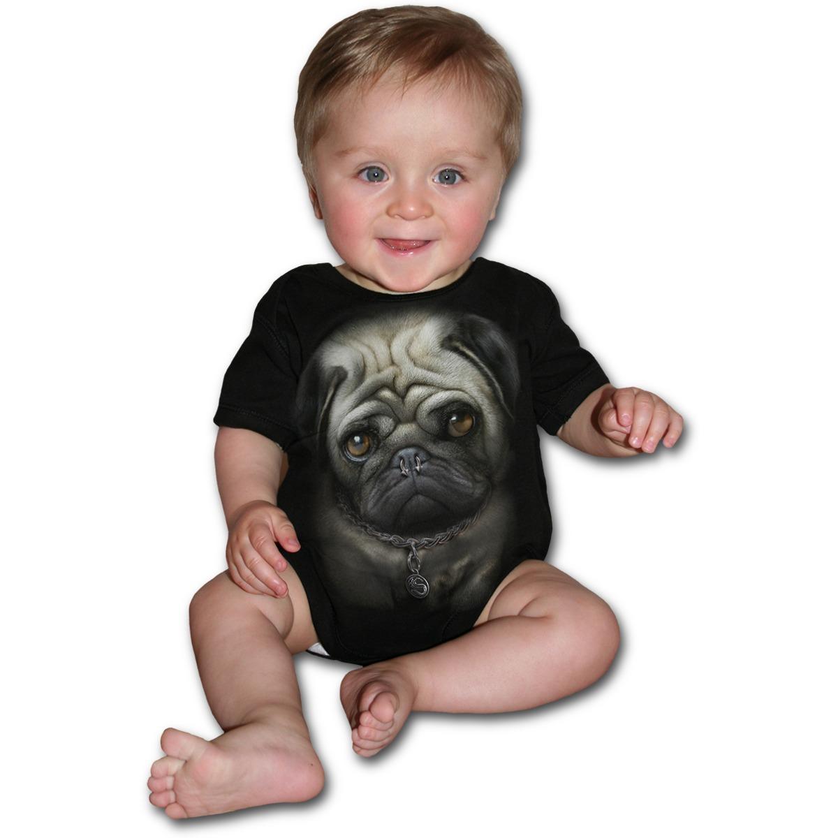 body dětské SPIRAL - Pug Life - Black - F027K002
