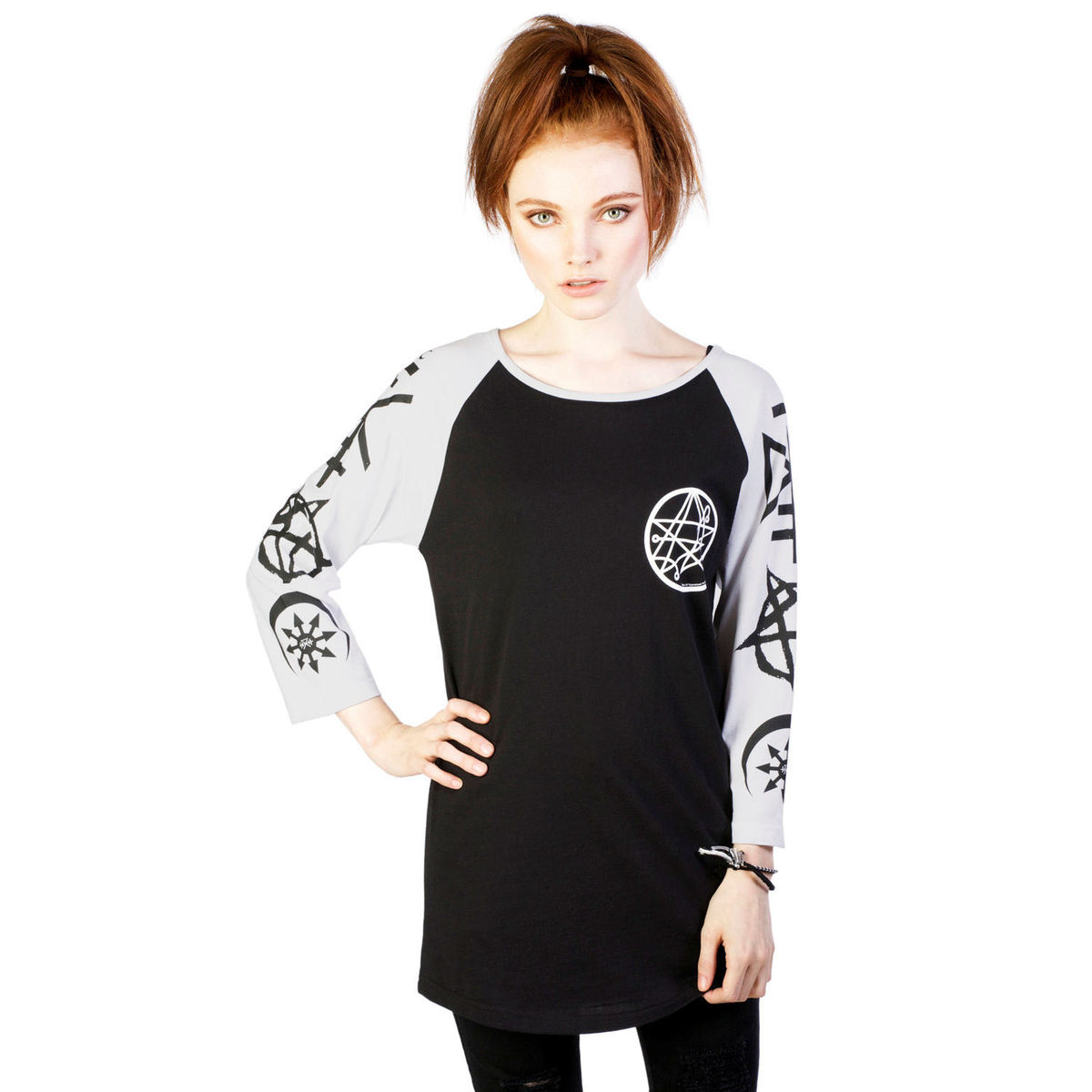 tričko dámské (tunika) DISTURBIA - Necronomicon - Black - DIS717