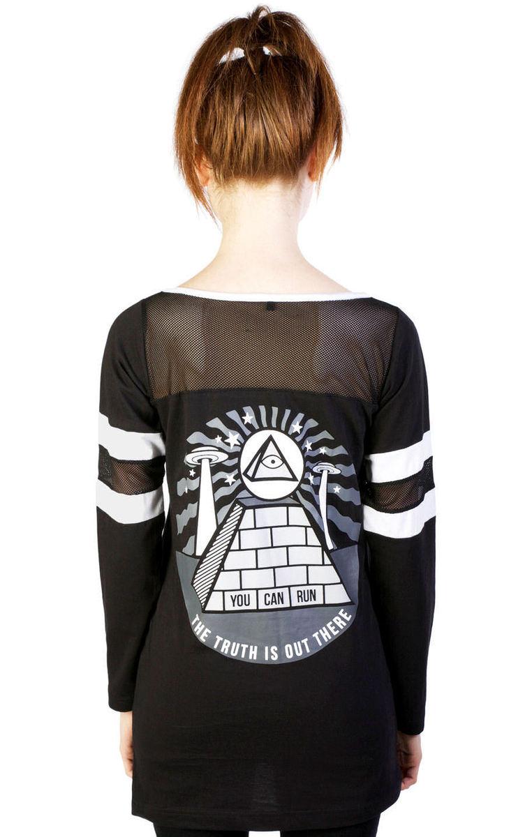 tričko dámské (tunika) DISTURBIA - Pyramid - Black - DIS714