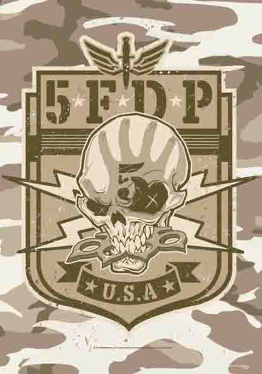 vlajka Five Finger Death Punch - Camo Skull - HFL1160