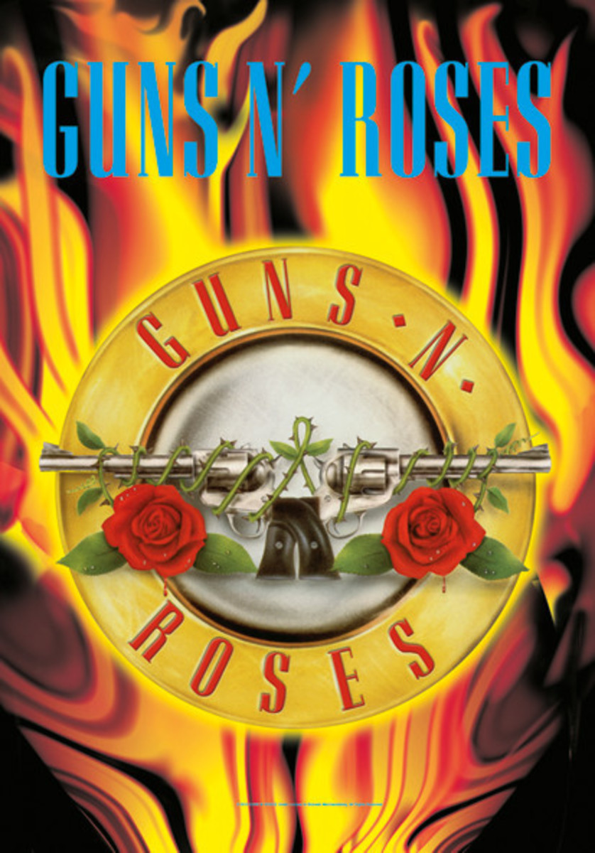 vlajka Guns N´Roses - Circle Flames - HFL1116