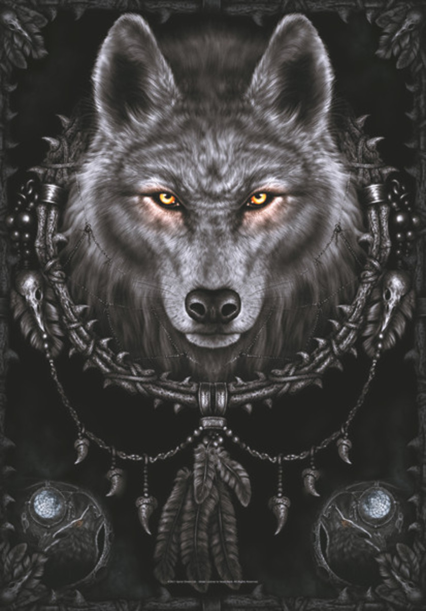 vlajka Spiral Collection - Wolf Dreams - HFL1051
