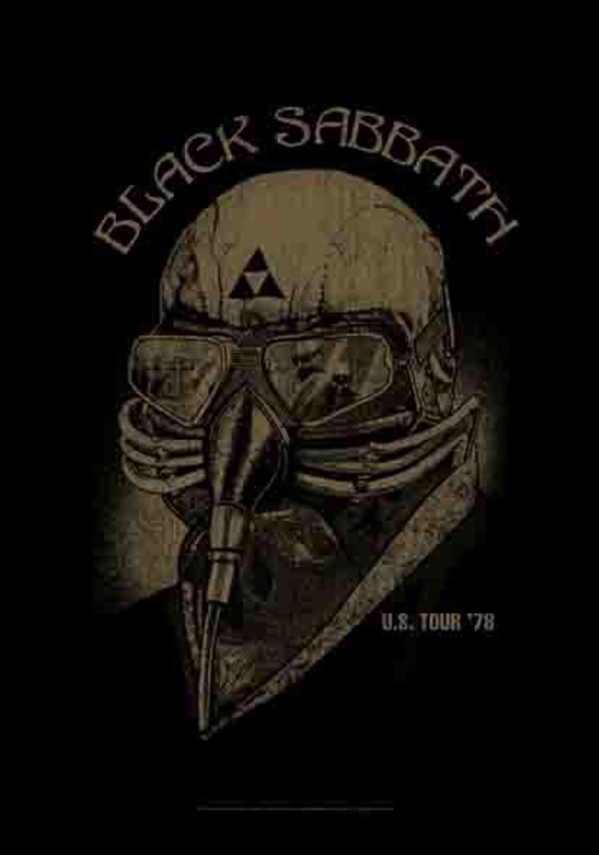 vlajka Black Sabbath - US Tour 78 - HFL1164