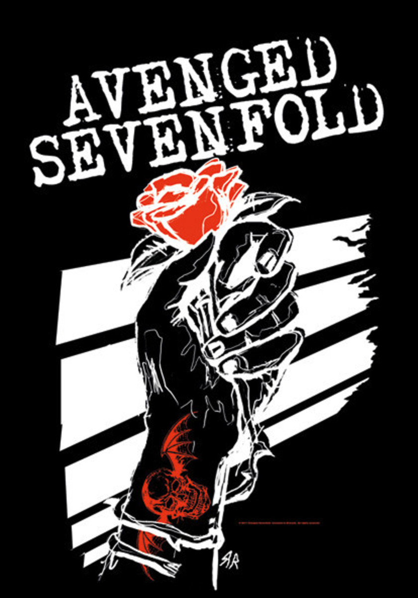 vlajka Avenged Sevenfold - Rosehands - HFL1076