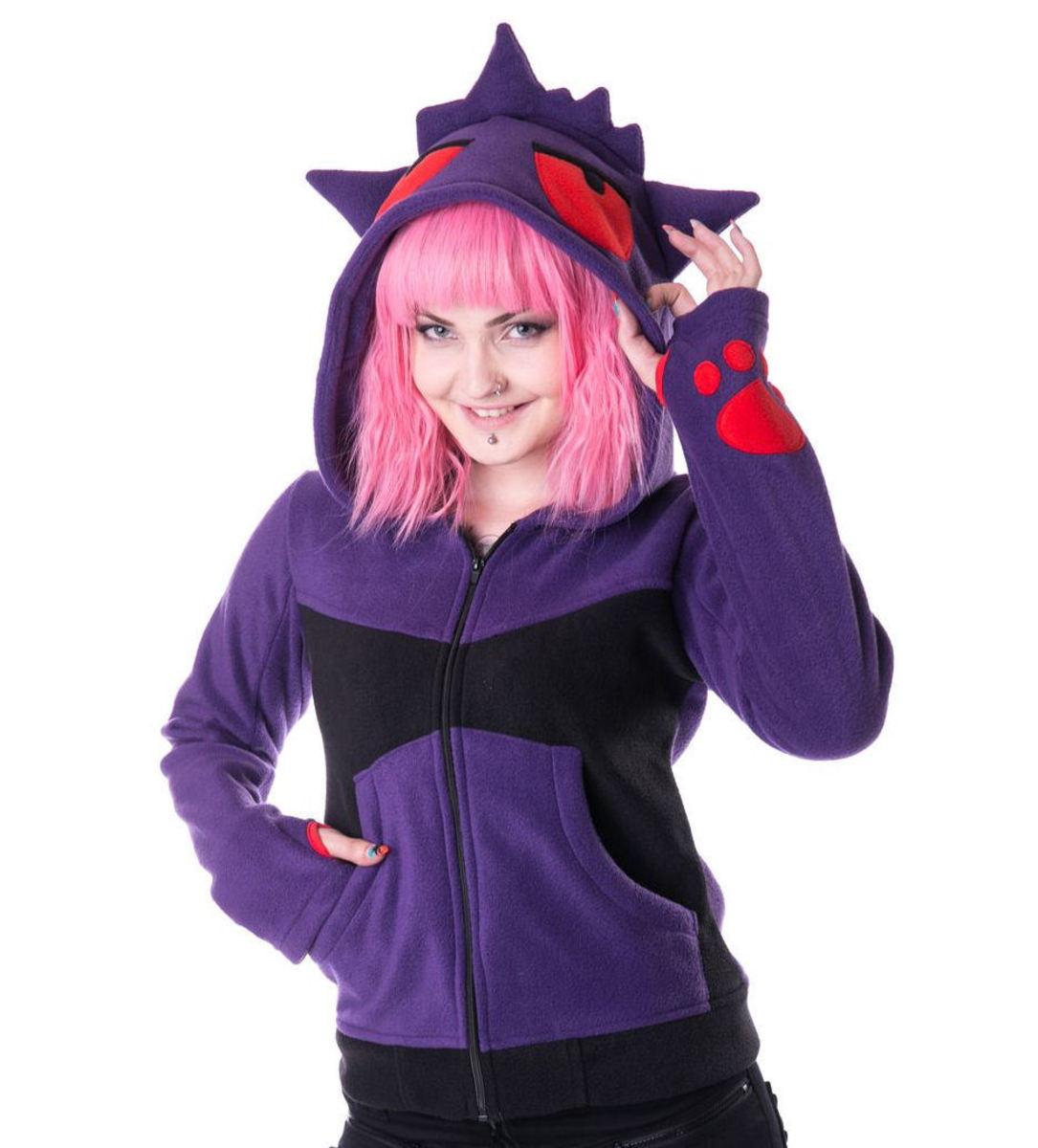 mikina dámská POIZEN INDUSTRIES - Shadow - Purple/Black