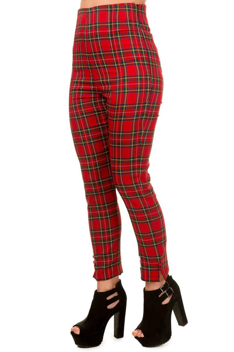 kalhoty dámské BANNED - Red - TBN432