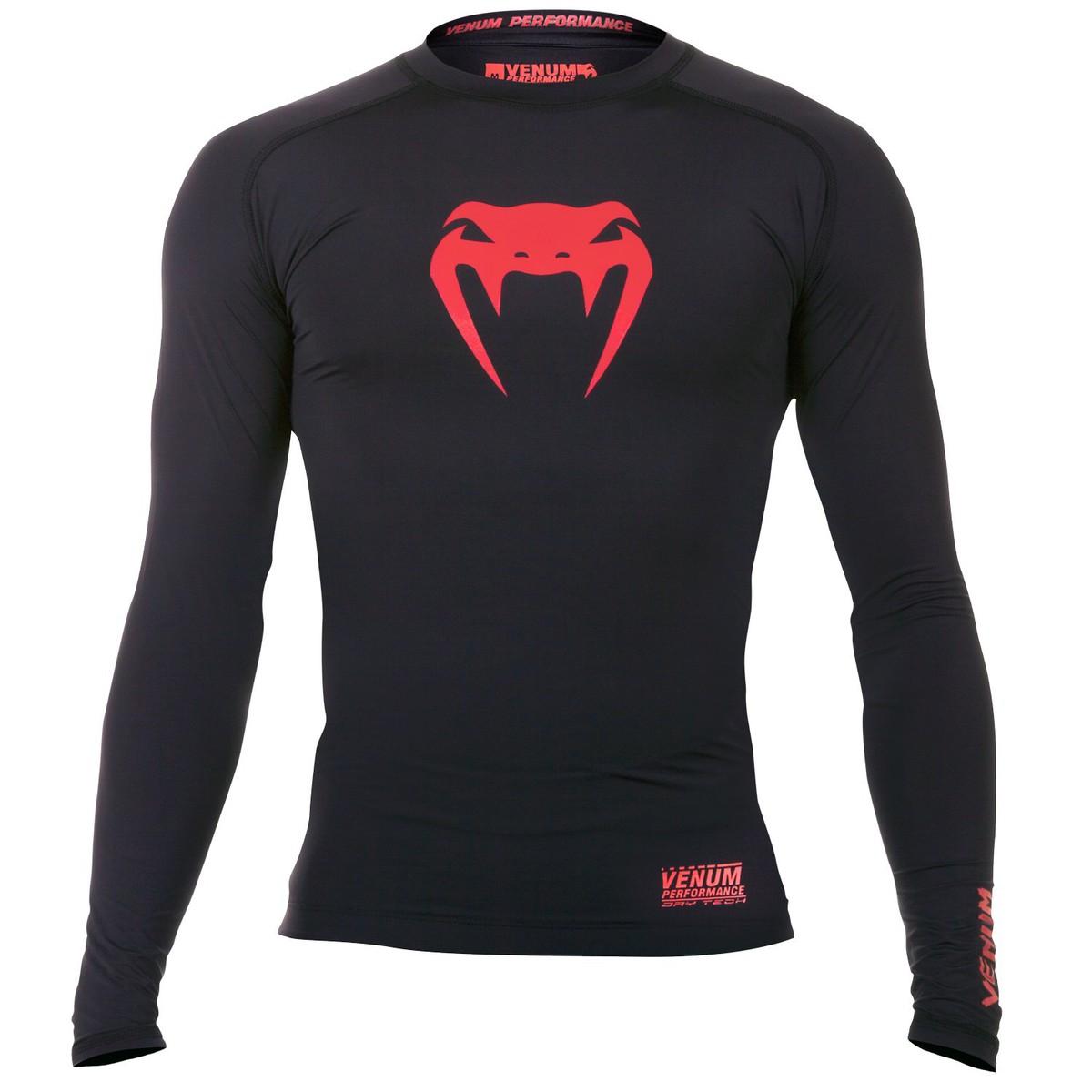 tričko pánské s dlouhým rukávem (termo) VENUM - Contender Compression - Red Devil - 1161