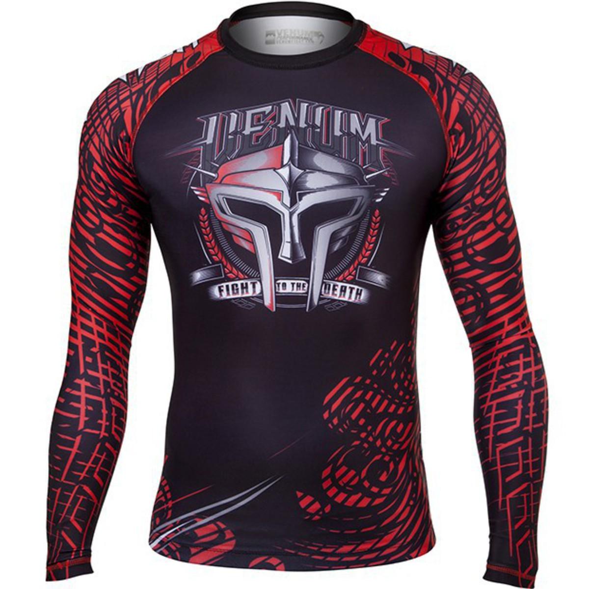 tričko pánské s dlouhým rukávem (termo) VENUM - Gladiator Rashguard - Black/Red - 1165