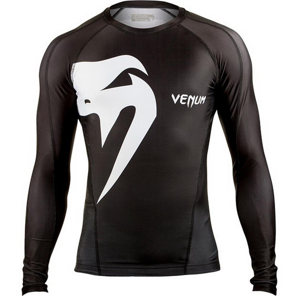 tričko pánské s dlouhým rukávem (termo) VENUM - Giant Rashguard - Black - 0208