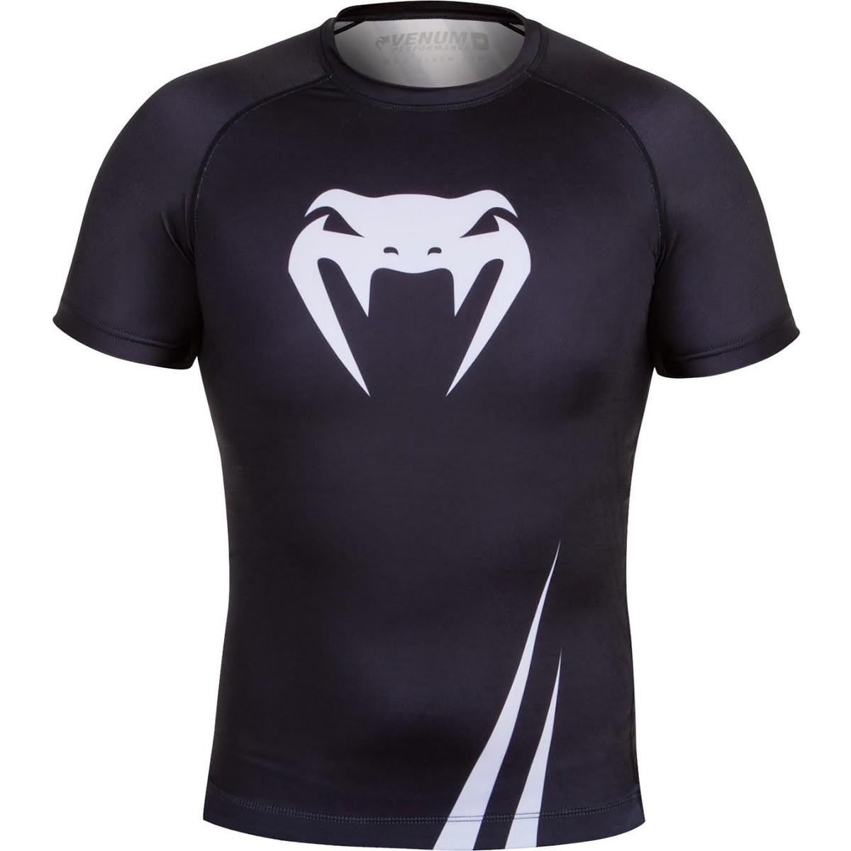 tričko pánské (termo) VENUM - Challenger Rashguard - Black/White - 2026