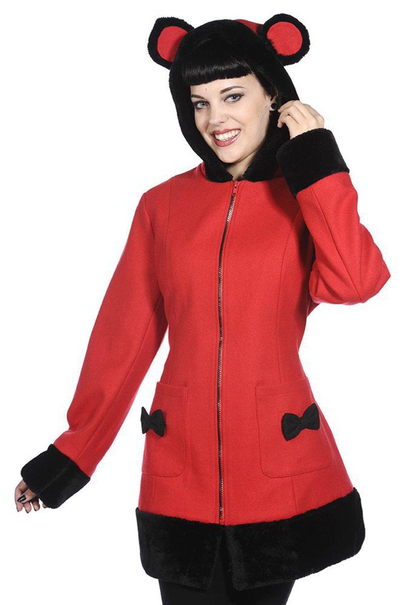 kabát dámský BANNED - Red - YBN1905