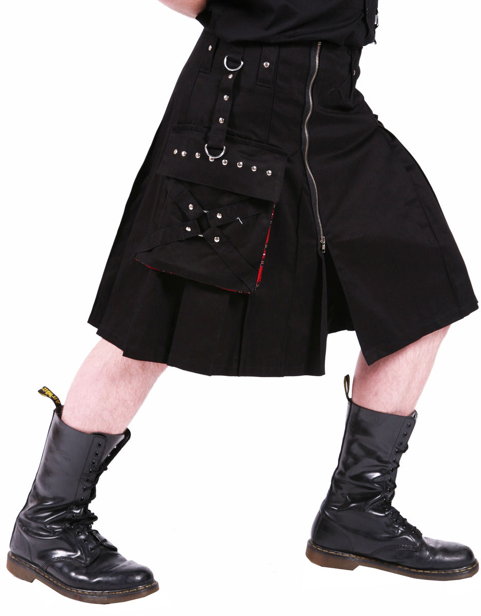 kilt pánský DEAD THREADS - Black - KC9383 32