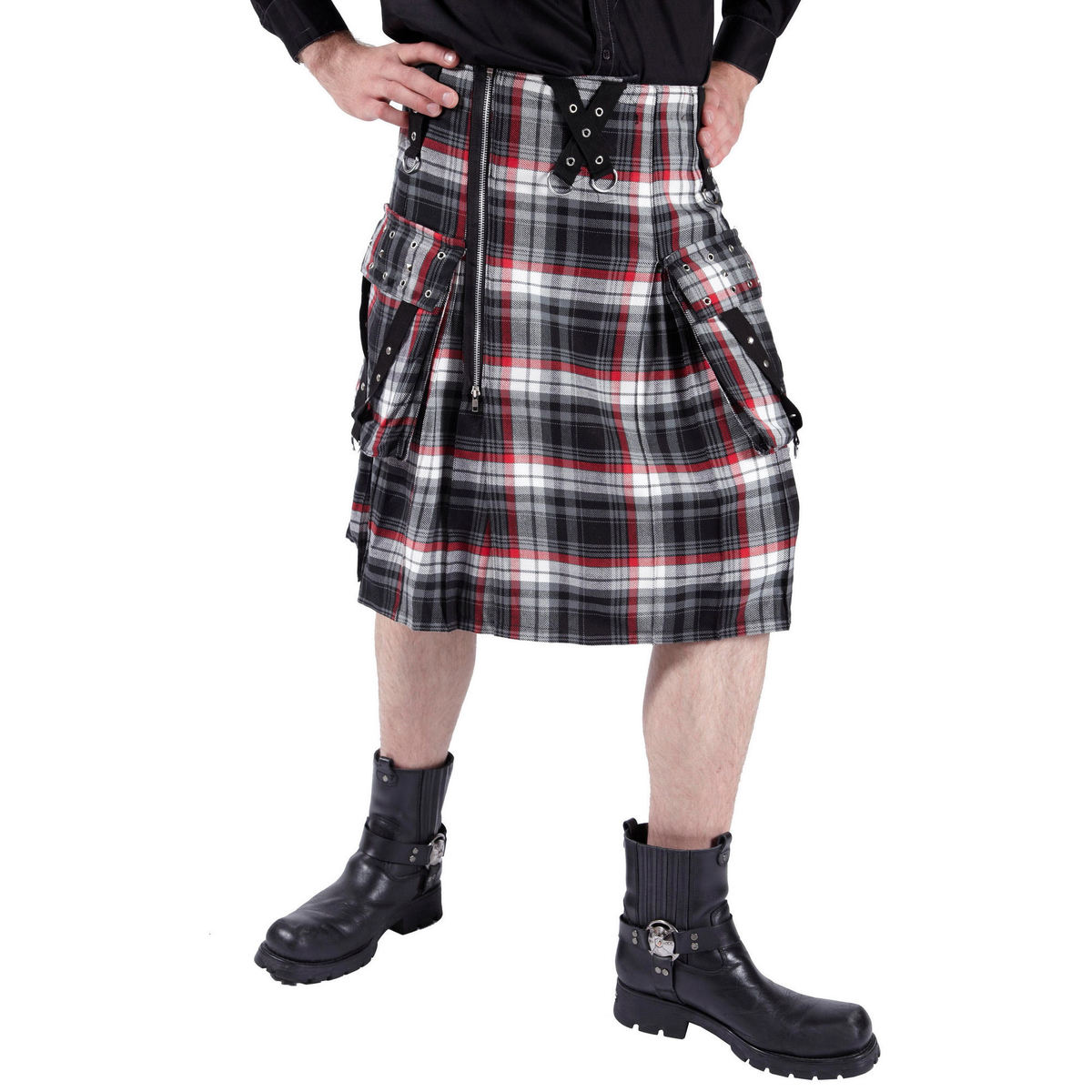 kilt pánský DEAD THREADS - Black/White/Red - KC9450 36