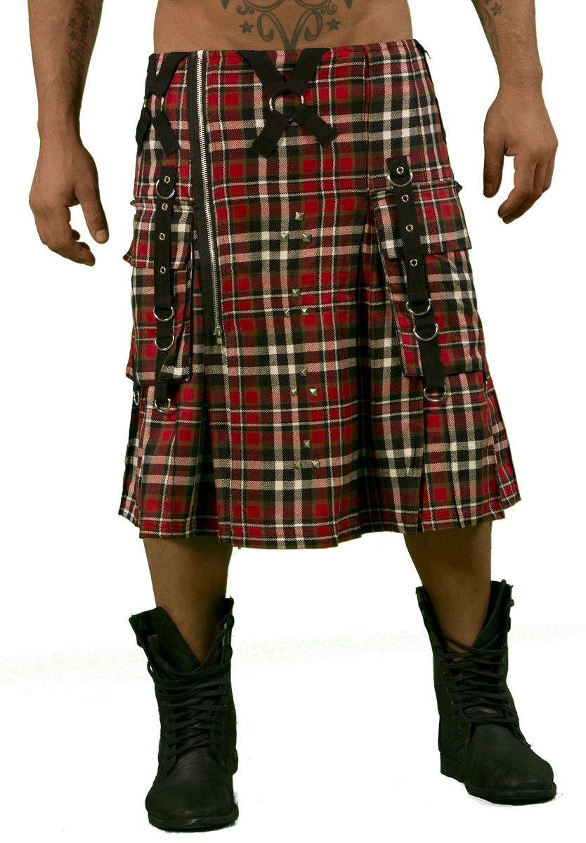 kilt pánský DEAD THREADS - Red - KC9718 30