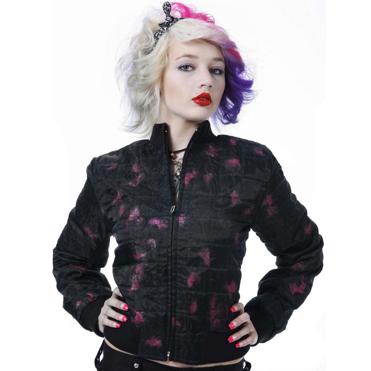 bunda dámská jarně/podzimní DEAD THREADS - Pink - NBD1360