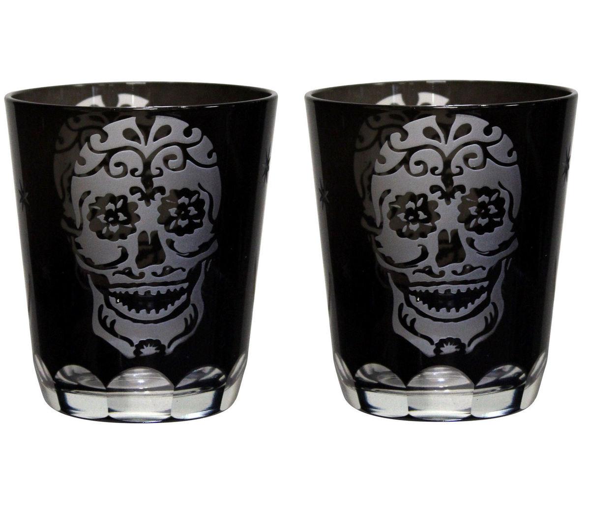 skleničky Sugar Skull - D1438D5